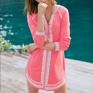 Boden coral Edie jersey kaftan tunic coverup